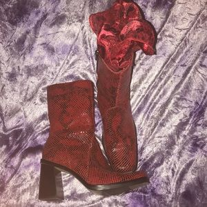 MIA Red Leather Women's Boots Size 7